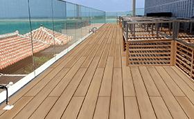 再生木材デッキ「WOODSPEC グレイスデッキ」