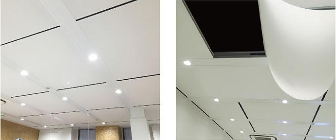 テンションタイプ 施工例 天井メンテナンス時はスライドできます。