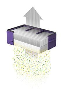 空気中のバクテリアを除去