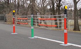 ワイヤロープ式防護柵用安全対策製品