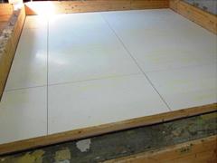 ガラス繊維不織布入りせっこう板施工