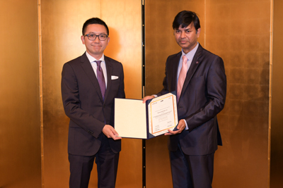 覚書交付式にインドでのプロジェクト支援日本企業57社の一社として、弊社社長が出席しました