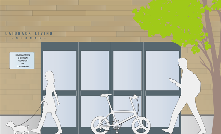 「LAIDBACK LIVING 湘南(レイドバックリビング湘南)」店舗外装イメージ